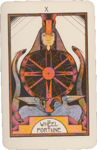 The Wheel of Fortune Card – Pink Aquarian Tarot Deck