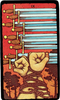 Nine of Swords – The Morgan Greer Black Border Tarot Deck