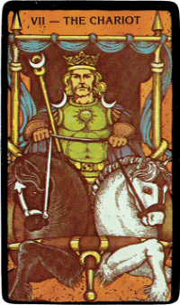 The Chariot Card– The Morgan Greer Black Border Tarot Deck