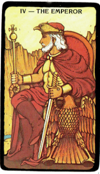 The Emperor – The Morgan Greer Black Border Tarot Deck