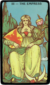 The Empress Card – The Morgan Greer Black Border Tarot Deck