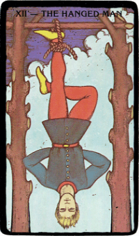 The Hanged Man Card – The Morgan Greer Black Border Tarot Deck