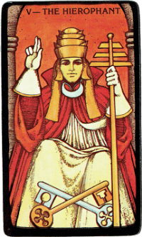 The Hierophant Card – The Morgan Greer Black Border Tarot Deck