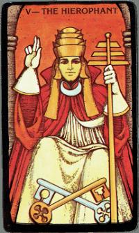 The Hierophant Card – The Morgan Greer Black Border Tarot Deck