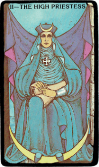 The High Priestess – The Morgan Greer Black Border Tarot Deck