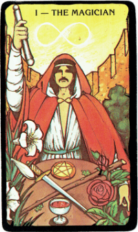 The Magician – The Morgan Greer Black Border Tarot Deck