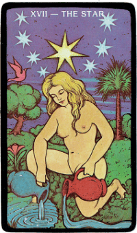 The Star – The Morgan Greer Black Border Tarot Deck