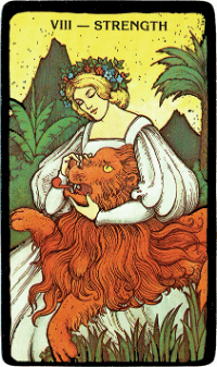 Strength – The Morgan Greer Black Border Tarot Deck
