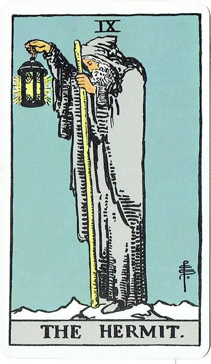 The Hermit — Rider Deck Blue Box