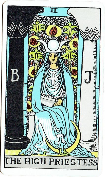 The High Priestess — Rider Deck Blue Box