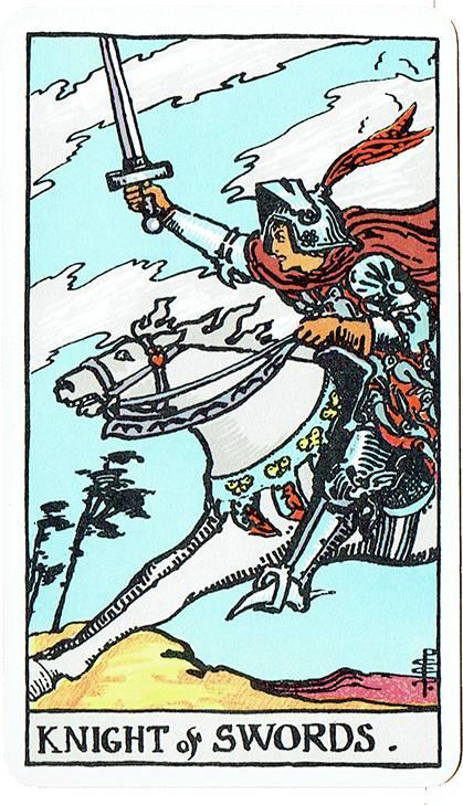 Knight of Swords — Rider Deck Blue Box