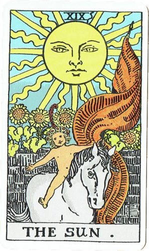 Major Arcana - The Sun — Rider Deck Blue Box