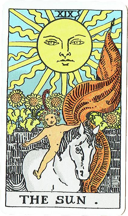 The Sun — Rider Deck Blue Box