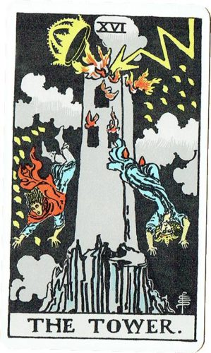 Major Arcana - The Tower — Rider Deck Blue Box